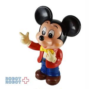ミッキーマウス ソフビ貯金箱 赤ジャケット黄蝶ネクタイ