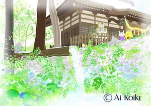 『大滝神社』 ~グラフィックアートTiki&Puffyシリーズ~ 【清春旅と空想の美術館】