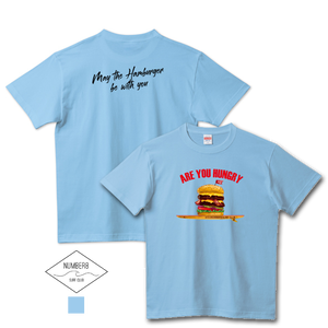 Number8 SURF CLUB(ナンバーエイト)ハンバーガーサーフィン -Are you hungry- Tシャツサックス メンズ レディース キッズ(United Athle)