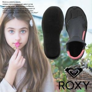 ロキシー 靴 くつ ブラック 黒 ピンク 海 マリンシューズ キッズ TSA172751 ROXY