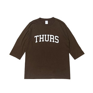 THURSDAY - COLLEGE 1/2 SLEEVE TEE (Brown)