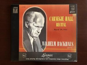 バックハウス2枚組カーネギーホールコンサート