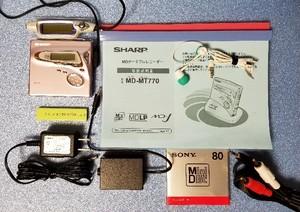 MDポータブルレコーダー SHARP MD-MT770-P MDLP対応 美品・完動品