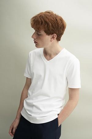 Vネック Tshirt(White)