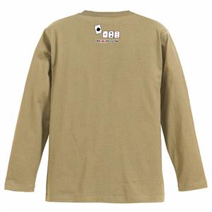 オマハハイロー・ドット(襟下) 長袖Tシャツ サンドカーキ