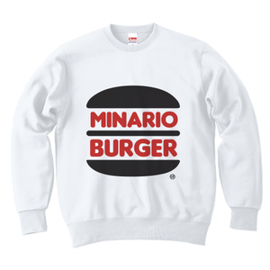 minario / MINARIO BURGER CREWNECK SWEAT WHITE