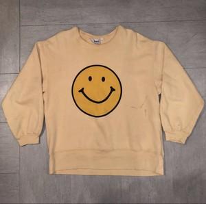 70's smile print sweat