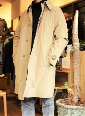 GENTRY COMPLEX Belted Single-breasted Coat Beige