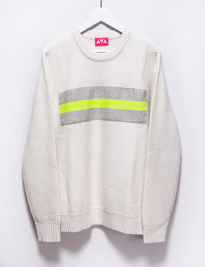 Remake wool knit (white/XL)
