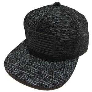 [A or J] Rubber Wappen Melange Cap / Black