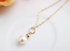 あこや真珠のチェーンネックレス