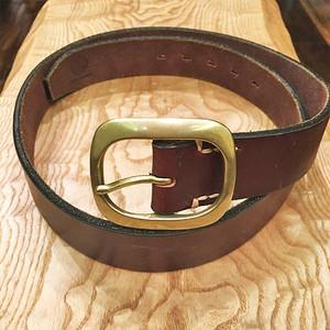 Vintage Leather Belt / Dark Brown with Gold Buckle 【クリアランスSALE!】在庫限り! 通常価格の55%OFF!!