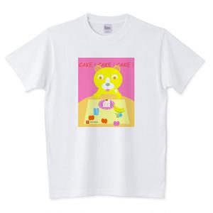 Tシャツ ケーキ大好きニャンコ