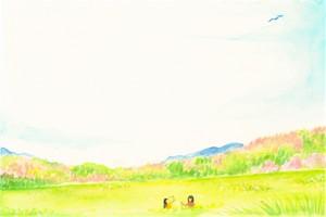 ポストカード「野原で永遠を」