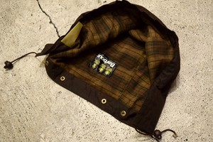 USED 90s Barbour Waxed Hood - G0628