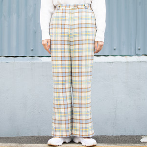 "Vintage ""The Good Wools"" Plaid Flare Pants"