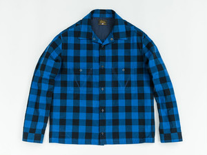 JET BLACK CHECK SHIRTS (BLUE) / GERUGA