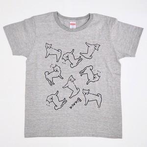【受注制作】柴犬Tシャツ/グレーorホワイトからお選びください