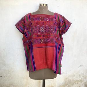 Vintage Guatemala チュニック Red×Rainbow