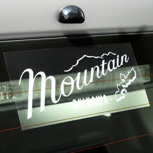 Mountainオリジナルロゴ ステッカー / クリヤ ホワイト文字