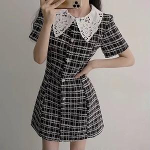 rétro check dolly dress