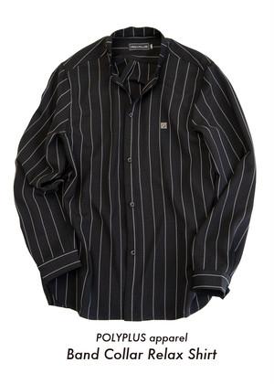 POLYPLUS apparel / Band Collar Relax Shirts < Black >