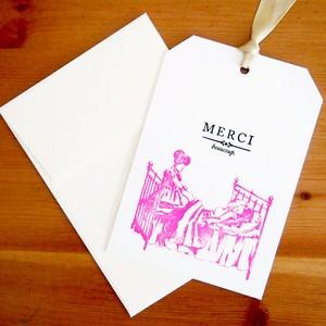 活版印刷リボンカード MERCI マッサージ