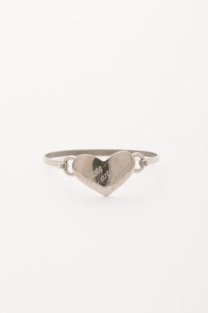【Run Rabbit Run Vintage 】Silver color heart bangle
