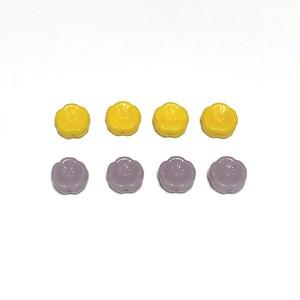 チェコお花ビーズ(黄色・紫)