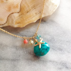 Treasure in the Sea... *Green Turquoise 14Kgf ネックレス