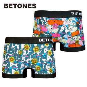 【BETONES】MOTHER FARM BLACK・マザーファーム ブラック / ビトーンズ メンズ ボクサー パンツ