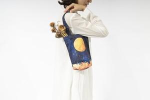 【NEW】夜空と満月の、小さなトートバック