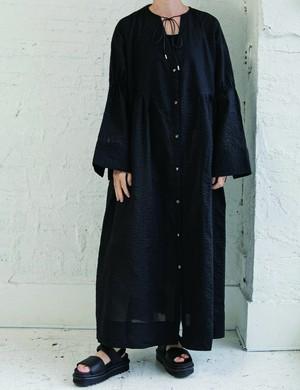 Cotton long  onepiece / Black
