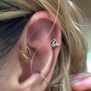 cherry earring 片耳 SILVER925 #LJ18032P