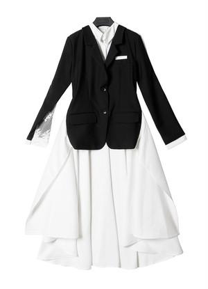 【SELECT】スーパーロングテールシャツドッキングテーラードジャケット
