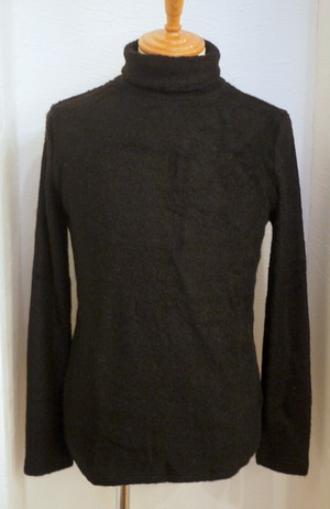 Pile Turtle-neck Pullover BLACK