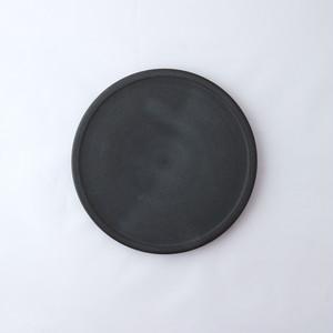 3RD CERAMICS(サードセラミックス) 黒泥皿 4.5寸 φ14.5 × H1cm 岐阜 多治見市 陶器 ブラック スタイリッシュ テーブルウェア