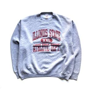 "USED 90' ""Fruit of the loom"" Illinois state athletic crewneck sweat - gray"