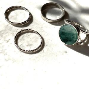 SET Ring silver・green