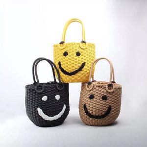 スマイルかごバッグ ハンドバッグ ニコちゃん 全3色