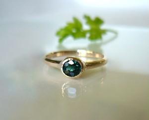 ブルーグリーントルマリンのK10の指輪
