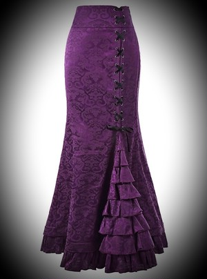 Sale!Gothic mermaid skirt purple