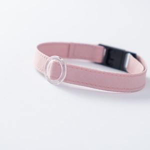 【猫にやさしい布首輪】ベビーピンク 軽量3g やわらか 安全 シンプル ペットシッター考案