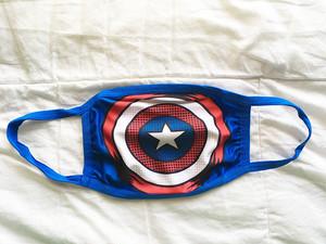 大人用 マスク 布マスク 洗える 水洗い marvel マーベル キャプテンアメリカ 2963