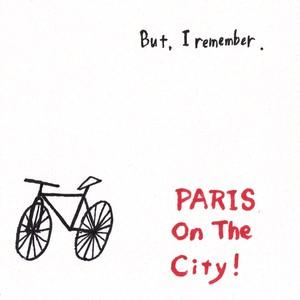 PARIS on the City!ステッカー(自転車デザインホワイト)
