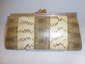 蛇皮ビィンテージかかえバックpython vintage bag (made in Japan)