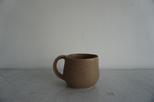 眞砂 眞砂子 マグカップ 薄茶