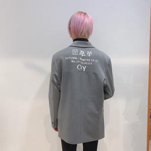 [即納]韓国ファッション OY LOGO BLAZER