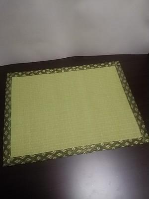 たたみランチョンマットグリーン(耐水性)樹脂加工カラー表