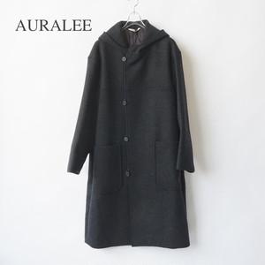 AURALEE/オーラリー ・LIGHT MELTON HOODED COAT